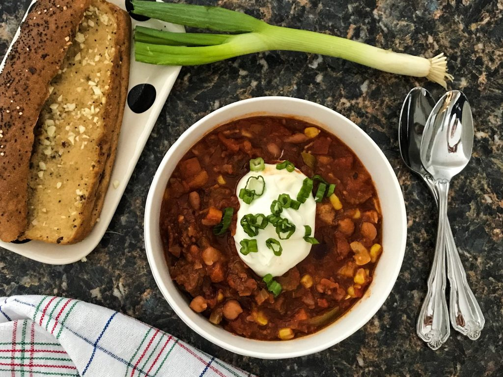 Gluten Free Bacon and Beef Chili