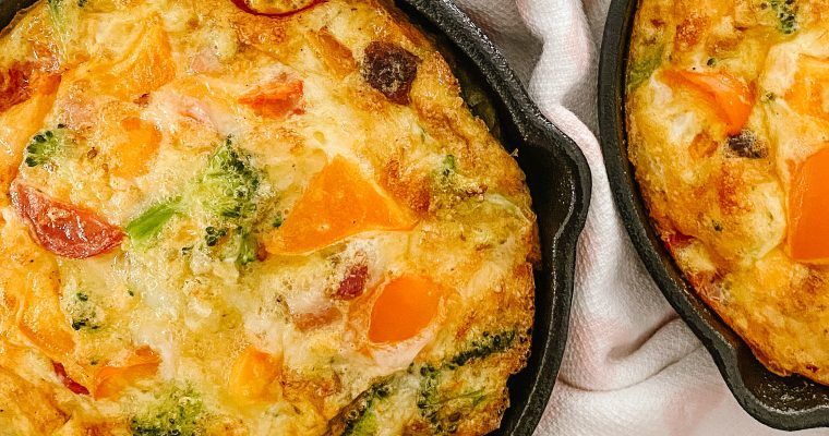 Vegetable Frittata with Pancetta and Cheese