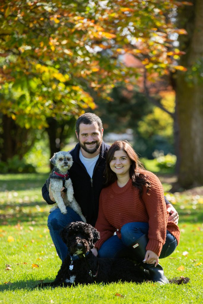 Gluten Free Treats and Eats creators Matthew and Karlee, with their dogs Marlee and Monty