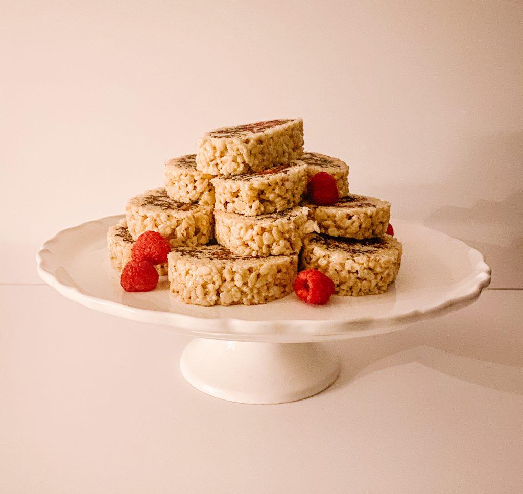 Chocolate Raspberry Rice Krispie Pinwheels