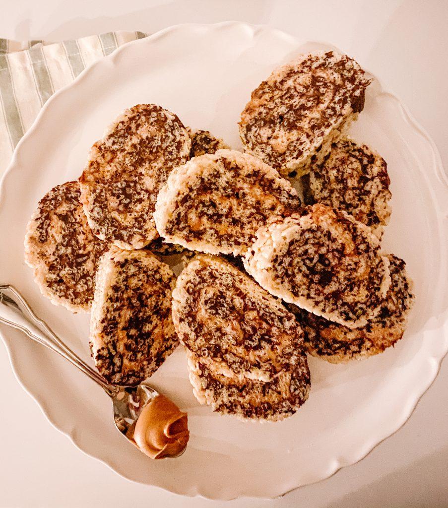 Chocolate Peanut Butter Rice Krispie Pinwheels