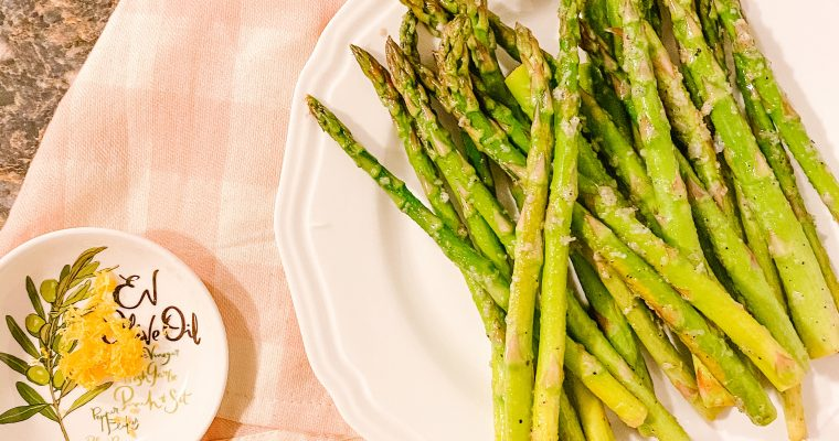 Lemon Garlic Asparagus