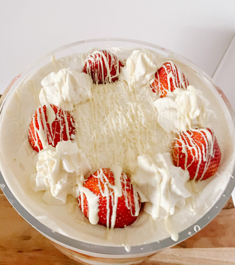 Strawberries and Cream Trifle Top
