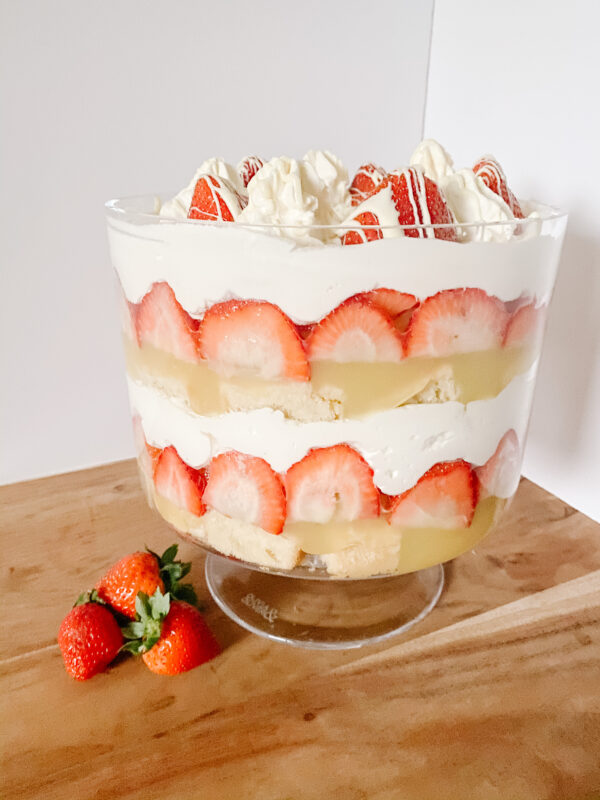 Strawberries and Cream Trifle Side
