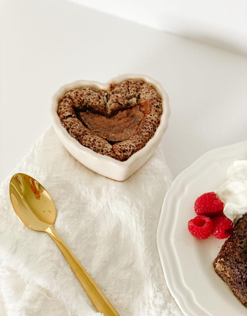 Lava Cake in Heart Ramekin
