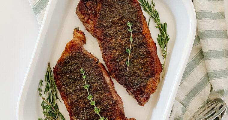 Herb Crusted Steak