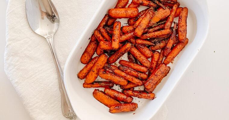 Maple Brown Sugar Glazed Carrots